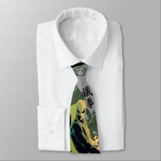 Iron Fist Comic Book Graphic Neck Tie