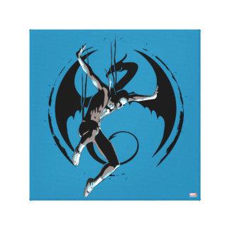 Iron Fist Dragon Landing Canvas Print