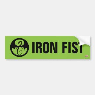 Iron Fist Logo Bumper Sticker