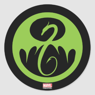 Iron Fist Logo - Green Classic Round Sticker