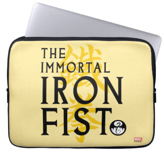 Iron Fist Name Graphic Computer Sleeve