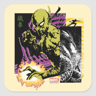 Iron Fist the Living Weapon Square Sticker