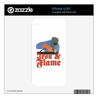 Iron & Flame iPhone 4 Skins