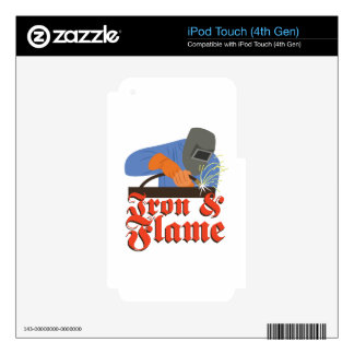 Iron & Flame iPod Touch 4G Decal
