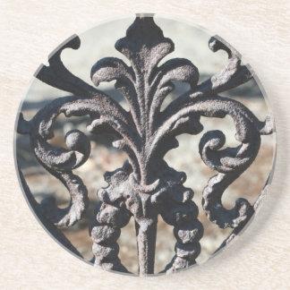 Iron Fleur De Lis Sandstone Coaster