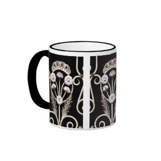 Iron Flower Ringer Coffee Mug