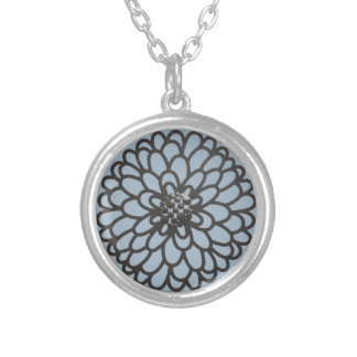 Iron Flower Silver Plated Necklace