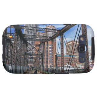 Iron footbridge with Boston Financial district Samsung Galaxy S3 Cover