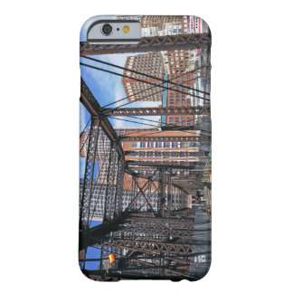 Iron footbridge with Boston Financial district Barely There iPhone 6 Case