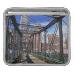 Iron footbridge with Boston Financial district Sleeves For iPads