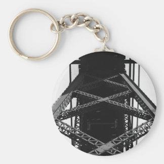Iron frame to support bridge basic round button keychain