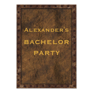 Iron Framed Effect Bachelor Double Sided 5x7 Paper Invitation Card