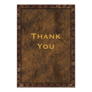 Iron Framed Effect Boys Birthday Thank You Card