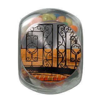 Iron Gate Glass Candy Jars