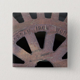 Iron Grate Pinback Button
