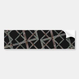 Iron Grid Pattern Bumper Sticker