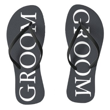 Beach Themed Iron Grille Grey with White Borders and Text Flip Flops