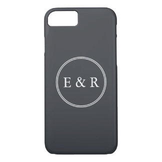 Iron Grille Grey with White Borders and Text iPhone 7 Case