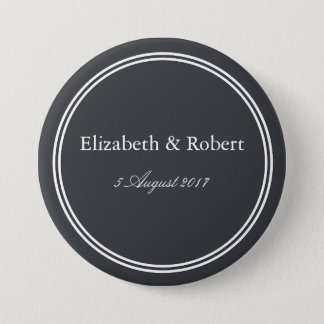 Iron Grille Grey with White Borders and Text Pinback Button