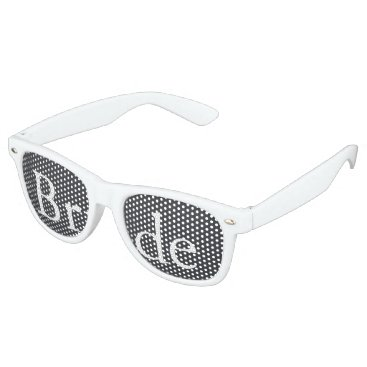 Beach Themed Iron Grille Grey with White Borders and Text Retro Sunglasses