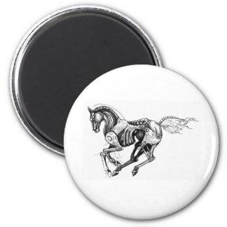 Iron Horse 2 Inch Round Magnet