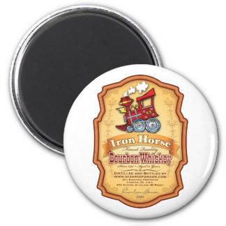 Iron Horse Bourbon 2 Inch Round Magnet