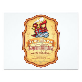 Iron Horse Bourbon 4.25x5.5 Paper Invitation Card