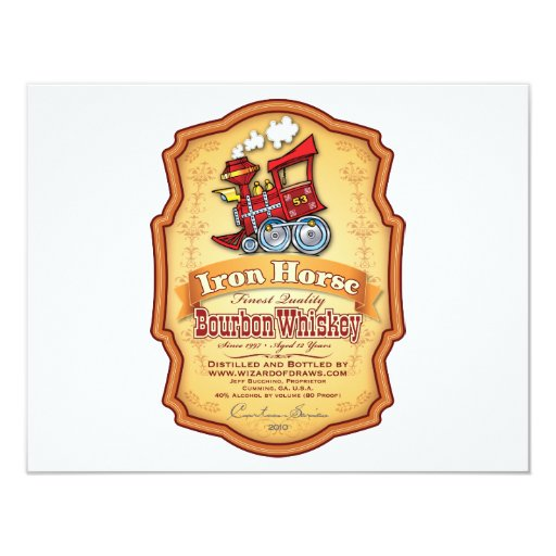 Iron Horse Bourbon Personalized Invites