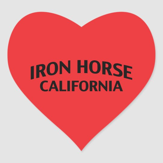 Iron Horse California Heart Sticker