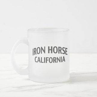 Iron Horse California 10 Oz Frosted Glass Coffee Mug