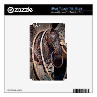 Iron Horse Hitching Post and Rope iPod Touch 4G Skins