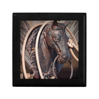 Iron Horse Hitching Post and Rope Jewelry Box