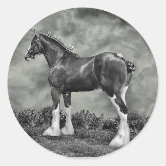 Iron Horse Steele Classic Round Sticker