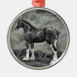 Iron Horse Steele Metal Ornament