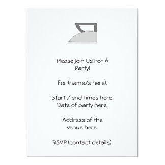 Iron illustration. Gray and Black on White. 6.5x8.75 Paper Invitation Card