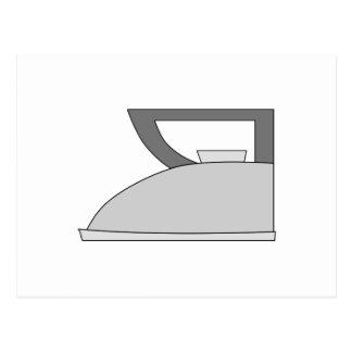 Iron illustration. Gray and Black on White. Postcard