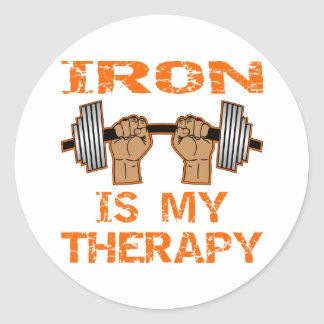 Iron Is My Therapy - Weightlifting Classic Round Sticker