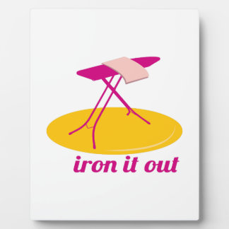 Iron It Out Display Plaques