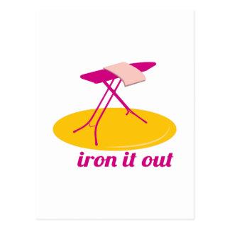 Iron It Out Postcard