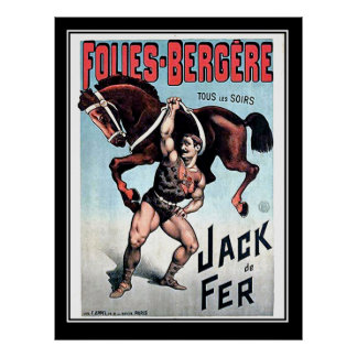 Iron Jack Strong Man Vintage Circus Poster