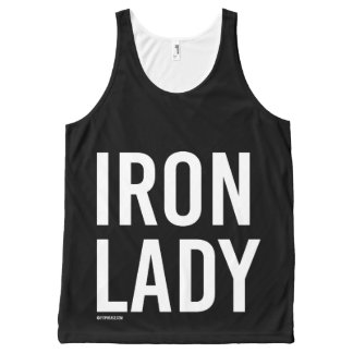 Iron Lady -   Training Fitness -.png All-Over Print Tank Top
