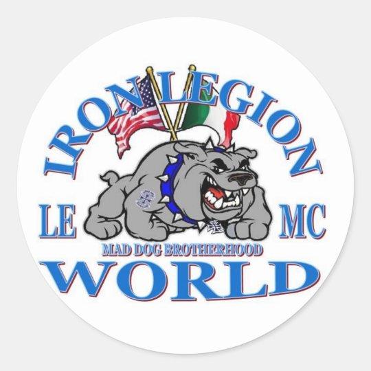 IRON LEGION LEMC MAD DOG BROTHERHOOD STICKER