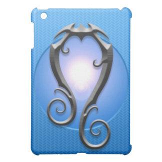 Iron Leo Symbol, blue iPad Mini Cover