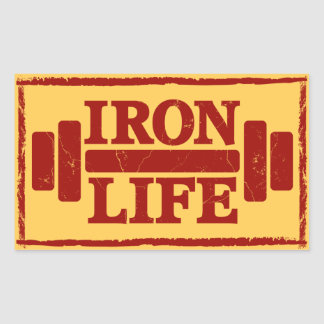 Iron Life Rectangular Sticker