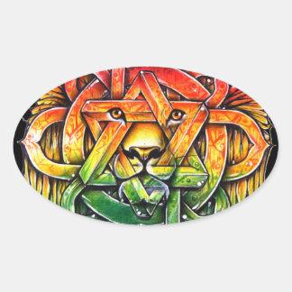 Iron Lion Zion - M1 Oval Stickers