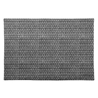 Iron Mail Gunmetal Black Metal Chain Armor Cloth Placemat