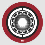 Iron Man Arc Icon Classic Round Sticker