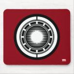 Iron Man Arc Icon Mouse Pad