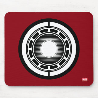 Iron Man Arc Icon Mouse Pad