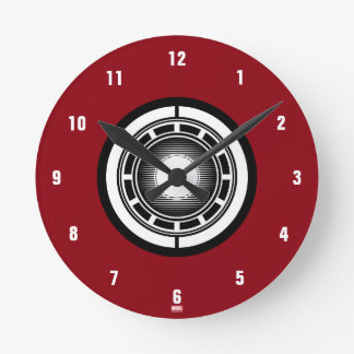 Iron Man Arc Icon Round Clock